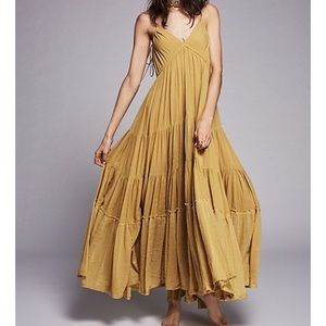 Free People Cosmico Maxi Sz M Chartreuse